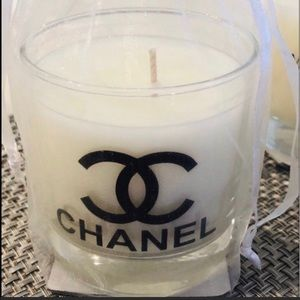 Glass scented candle new